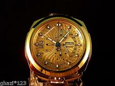 Invicta Reserve Men's Excursion Swiss Chrono Retro 18K Gold IP HP Bracelet Watch