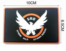 1PCS AIRSOFT-GAME-COSPLAY THE DIVISION SHD RUBBER 3D PVC BADGE Velcro PATCH  489