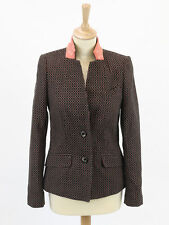 Laura Ashley Womens Apricot and Teal Blazer Size 8
