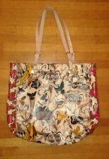 Le Sak Large Vinyl Tote Roots Bag Birds Scribble Hippie