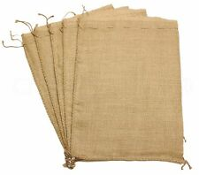 "20 Burlap Bags with Natural Jute Drawstring - 18"" x 24"" - Gunny Sack Race Bag"