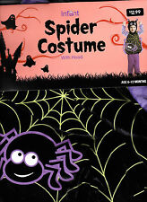 Cute Spider Costume With Hood - Infant 6-12 MOS - New