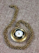 """Lucerne Vintage Swiss Made Wind Up Pretty Necklace Pendant Watch-24"""" Chain"""