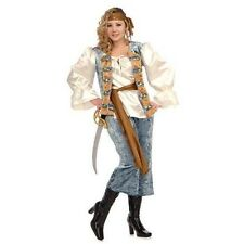 FANCY DRESS COSTUME ~ DELUXE PIRATE LADY XL / XXL 18-22