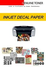 1 sheet A4 - Waterslide decal paper for INKJET printer, without cover-coating
