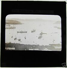 Glass Magic lantern slide RUSSO JAPANESE WAR - VLADISVOSTOCK SHIPS IN HARBOUR