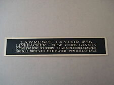Lawrence Taylor Giants Nameplate For A Football Jersey Display Case 1.5 X 6