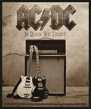 "AC/DC "" En Rock we Trust "" Parche/parche 602601 #"