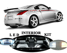 LED Package - Interior + License Plate + Vanity for Nissan 350 Z (9 pieces)