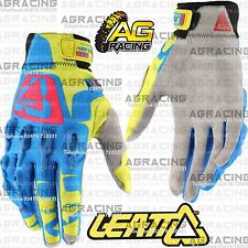 Leatt GPX 4.5 Lite Blue Yellow Red Gloves Adult X-Large XL Motocross Enduro ATV