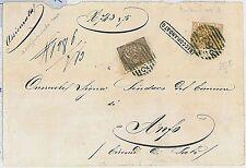 ITALIA REGNO:  storia postale - FRONTESPIZIO con annullo numerale a sbarre 2825