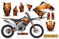 KAWASAKI KXF450 KX450F 09-11 GRAPHICS KIT CREATORX DECALS INFERNO O