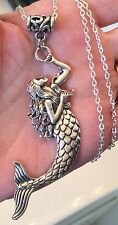 SILVER TONE MERMAID PENDANT &  NECKLACE + NECKLACE OPTIONS