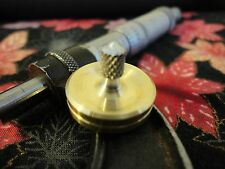 Spinning Top - precision, handmade brass and aluminium top ceramic tip - EDC