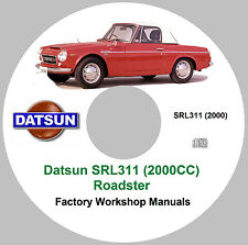 Datsun Fairlady SRL311/2000CC Service Manuals & Tech Bulletins