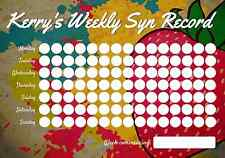 Personalised Weekly Syn Record Chart - Slimmers World - Weight loss 4