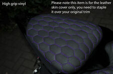 GRIP HEX PURPLE STITCH CUSTOM FITS YAMAHA YZF 600 08-15 R6 REAR SEAT COVER