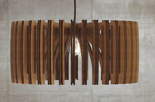 pendant light wooden lasercut lamp handmade chandelier ceiling fixture modern