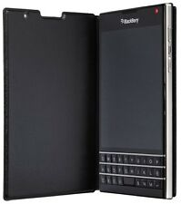 Genuine BlackBerry Passport Leather Flip Case Cover - Black