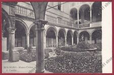 BOLOGNA CITTÀ 261 MUSEO CIVICO CORTILE Cartolina