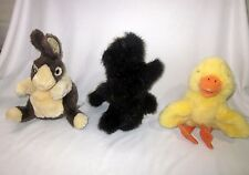 FOLKMANIS LOT SET OF 3 SKUNK DUTCH RABBIT DUCK PLUSH HAND PUPPETS FULL BODY