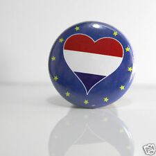 2 Badges Europe [25mm] PIN BACK BUTTON Nederland