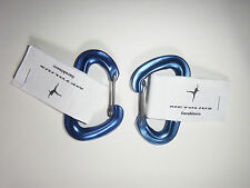 METOLIUS rock climbing carabiner set of 2 NEW FS mini blue wire gate