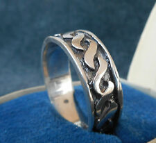VINTAGE! GERMAN EIHWAZ Runes Sterling SILVER RING