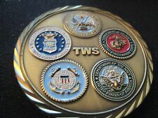 TWS JACKSONVILLE WELDING SCHOOL; US Military CHALLENGE Coin;  Colorful; 5 Logos