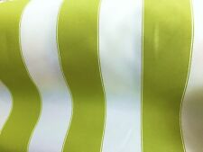 """LIME WHITE WATERPROOF OUTDOOR CANVAS FABRIC 60"""" 600 DENIER FABRIC BY THE YARD"""