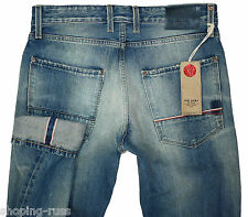 RRP€390 RED SEAL by REPLAY W-33 L-32 HOSHIKO Handcrafted Japanese Selvedge Denim