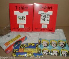 5 New Andy Warhol t-shirt XL Marilyn Monroe Lips Cows Body $ 1993-1996 original