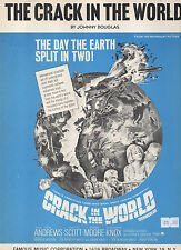 CRACK IN THE WORLD sheet music from film 1965 3 pages (VG+ shape)