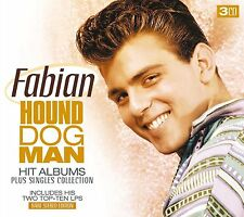 FABIAN HOUND DOG MAN - HIT ALBUMS & SINGLES   - 3 CD SET - FREE POST IN UK