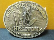Hesston Belt Buckle 1980's Adult Size Brass Ride the Winner New FREE SHIPPING