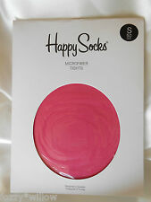 HAPPY SOCKS Pink Microfiber Tights 50D - Size S BNWT