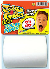 New Fake Bathrrom Tolet Paper Joke Prank Novelty Trick Gag Magic Party Toy Gift
