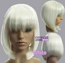 30cm White Heat Styleable Chic Bob short Cosplay Wigs 91_101