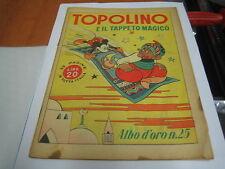 ALBO D'ORO N. 25 - TOPOLINO E IL TAPPETO MAGICO - ORIGINALE WALT DISNEY