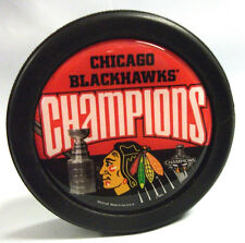 CHICAGO BLACKHAWKS 2010 STANLEY CUP CHAMPIONS DOMED HOCKEY PUCK FREE SHIPPING
