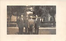 Ohio Postcard Real Photo RPPC c1910 LIMA Allen County MEN in Suits