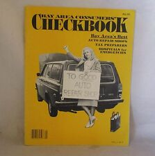VINTAGE CONSUMERS CHECKBOOK BAY AREA - ISSUE #1 - 1982 - EXCELLENT - NO RESERVE