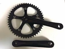 NEW Lasco Black 48T CrankSet Single Speed 170mm FIXIE Square taper