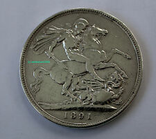 1891 Queen Victoria Silver Crown. 92.5% (Sterling) silver