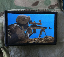 M14 Sniper Rifle Morale Patch Tactical Military USA Hook Badge Army Flag