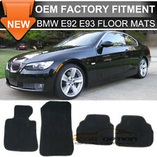 Fit For 07-13 BMW E92 3-Series Floor Mats Carpet Front & Rear Nylon Black 4PC