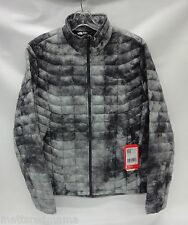 North Face Mens Thermoball Full Zip Jacket C762 Asphalt Grey Cirrus Print Medium