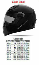 Voss full face Bandito motorcycle helmet gloss black DOT approved size XL