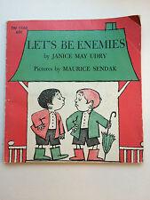 Let's Be Enemies JANICE MAY UDRY Maurice Sendak  Scholastic 1968 1st print