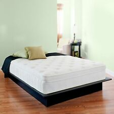 13 Inch Night Therapy Deluxe Euro Box Top Spring Mattress Full Bed Comfort NEW